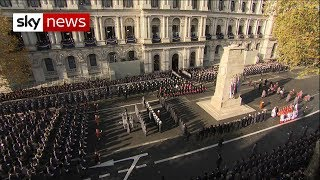 The UK falls silent to honour the war dead - SKYNEWS