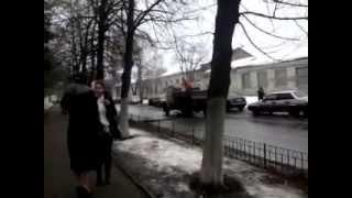 Ремонт дороги г. Киев, ул. Полупанова 07.02.13