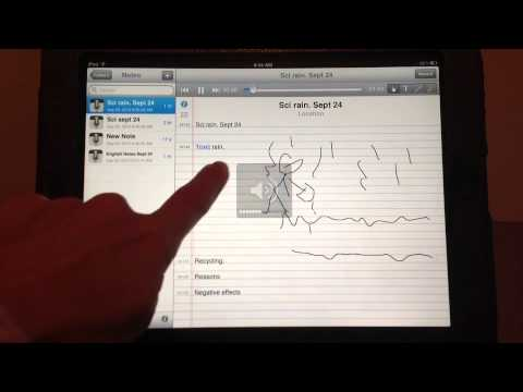 7 min. iPad Training - Audio Note (Closed Captions included)