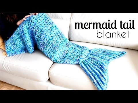 How to crochet a MERMAID TAIL BLANKET ♥ CROCHET LOVERS
