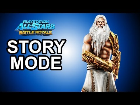 Playstation All Stars Battle Royale - DLC: Zeus Story Mode Walkthrough!!