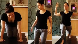 Tamanna Bhatia Yoga Practicing | Day 4/21 | 21 Days With Tamanna Bhatia | #21DaysWithTammy - TFPC