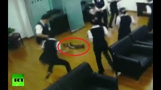 1.5-meter python falls from ceiling on bank clerks during meeting - RUSSIATODAY