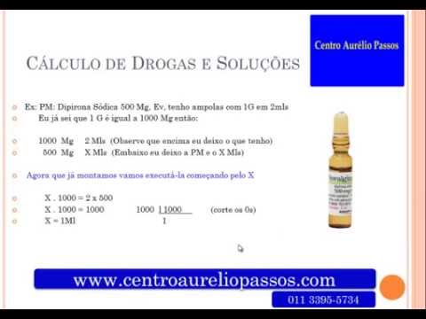 Curso de clculo e administrao de medicamentos