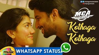 Best Love WhatsApp Status Video | Kothaga Kothaga Video Song | MCA Movie Songs | Nani | Sai Pallavi - MANGOMUSIC