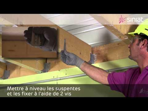 Poser un plafond en plaques de plâtre PRÉGY