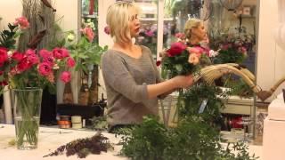 Мастер-класс классический круглый букет с розами Дэвида Остина