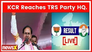 Celebration As 'Party In Pink' TRS Sweeps Polls | Telangana Election Results 2018 - NEWSXLIVE