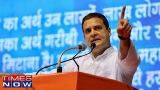 Rahul Gandhi Attacks PM Modi At 'Save Constitution' Rally - TIMESNOWONLINE
