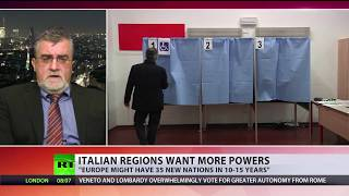 Time for 'Europe of regions?' Italy's 2 richest regions vote in favour of greater autonomy - RUSSIATODAY