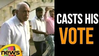 Karnataka  BJP's Chief Ministerial Candidate BSYBJP Casts His Vote | Mango News - MANGONEWS
