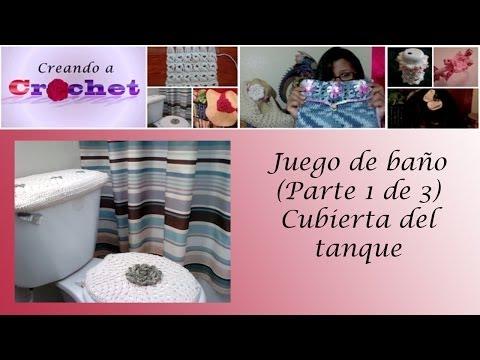 Juego de baño (Parte 1 de 3): Cubierta del tanque - Tutorial de tejido crochet