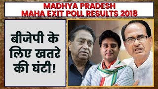 Poll of Polls Result 2018 Madhya Pradesh | Madhya Pradesh Maha Exit Polls Result 2018 - ITVNEWSINDIA