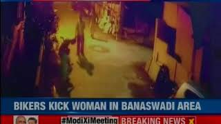 Bengaluru: Bikers hit woman walking on street, CCTV footage of 'Goondagardi' out - NEWSXLIVE