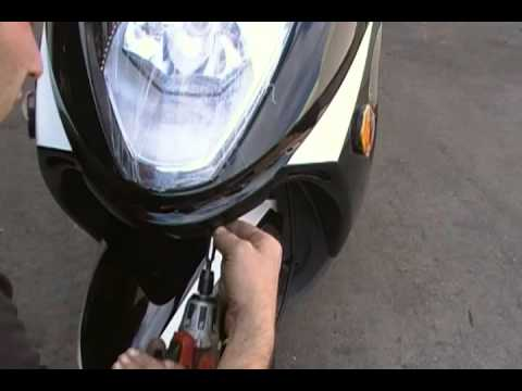 How To Remove and Install Front Panel For Roketa 150cc Scooter Model 74