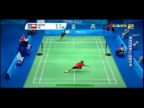 Super dive in badminton but still fail!
