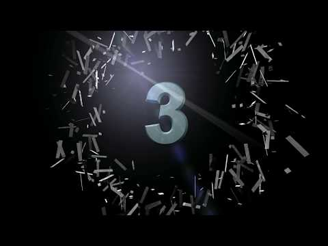 Countdown video 3d animation explosion HD - Cinema 4d Count down timer video full hd 1080p
