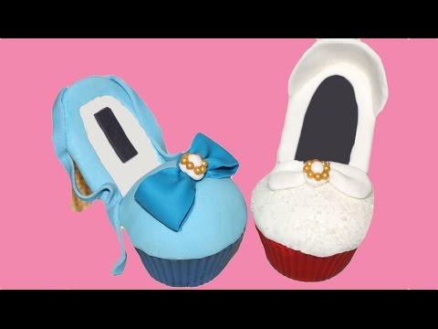 Cómo hacer cupcakes de zapatos. High heel cupcakes