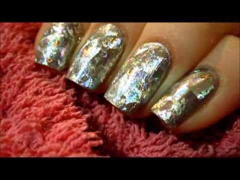 Holographic transfer foil nail art - Hologaficzna folia transferowa  - Basevehei