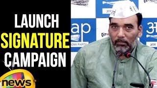 Gopal Rai Speech | AAP to launch signature campaign | Delhi Latest News Updates | Mango News - MANGONEWS