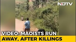 Video Shows Maoists Running Away After Shooting Dead Andhra Lawmaker - NDTV