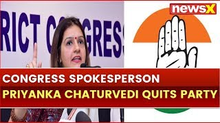 Congress Spokesperson Priyanka Chaturvedi Quits Party after Slamming Congress; Lok Sabha Poll 2019 - NEWSXLIVE