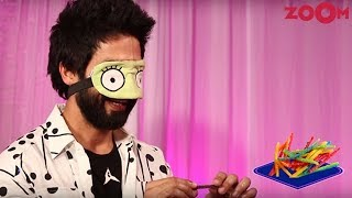 Shahid Kapoor blindfolds for a FUN game 'Batti Gul Shahid Chalu' - ZOOMDEKHO