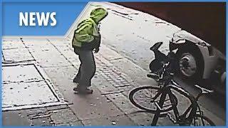 Chilling moment homeless man shoves stranger under a passing truck - THESUNNEWSPAPER