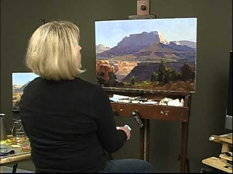 "Kathryn Stats ""Overview,"" Painting Mountain Scenery"