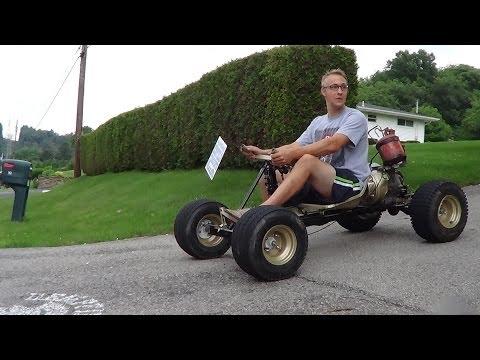 EPIC! HOMEMADE 5 speed go kart