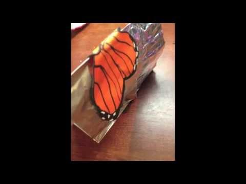 Бабочка для украшений из полимерной глины