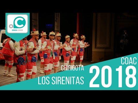 Sesión de Preliminares, la agrupación Los Sirenitas actúa hoy en la modalidad de Chirigotas.