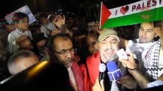 كلمة قوية  للبرلماني المغربي  أبو زيد المقرئ الإدريسي عند عودته من أسطول الحرية 3