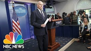 Chief Of Staff General John Kelly Describes His Own Call About Son's Death In Afghanistan | NBC News - NBCNEWS
