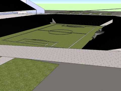 Animao sketchup, o estadio  do Armazem 3d.