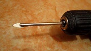 Простое изобретение! Способ как закрепить в гипсокартон сквозь плитку дюбель. Чем сверлить плитку?