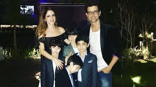 Hrithik Roshan and sons join Sussanne Khan at store launch - TIMESOFINDIACHANNEL