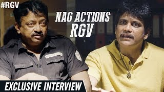 NAG Actions RGV | Officer Exclusive Interview | Nagarjuna | Myra | #OfficerReportingOnJune1st | RGV - RGV