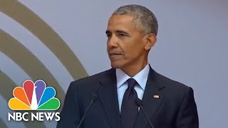 Watch Live: Fmr. President Barack Obama speaks at Mandela Day - NBCNEWS