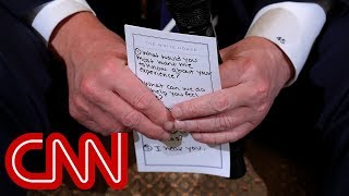 Trump's note card for shooting discussion: 'I hear you' - CNN