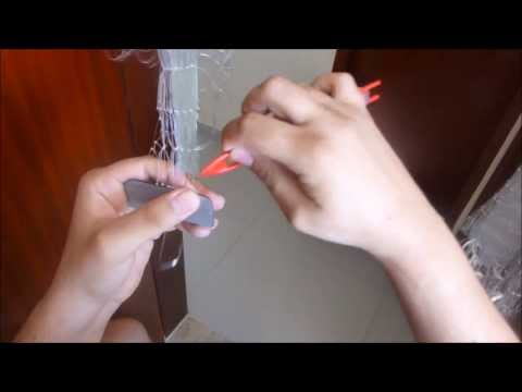 Como fazer tarrafa de pesca (Tarrafa malha 30 - pano de rede)