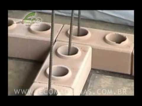 Construir com tijolos ecológicos - 02 - Preparação para assentamento