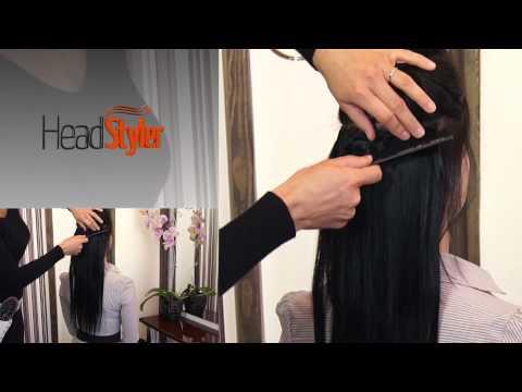 Przedłużanie włosów dopinkami Clip In 50cm, włosy naturalne Headstyler