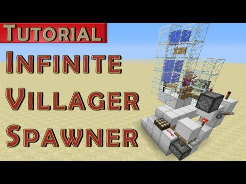 Minecraft Tutorial: Infinite Adult Villager Spawner v2 (works in 1.7.4)