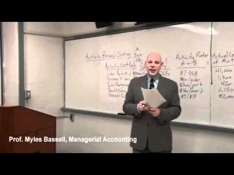 3 Managerial Accounting - 3 Activity Based Costing
