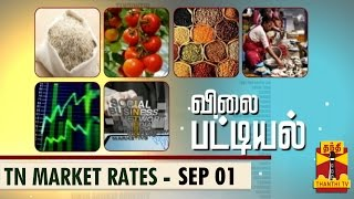 Vilai Pattiyal 01-09-2014 Market Rates of Essential Commodities in TN (01/09/14) – Thanthi TV