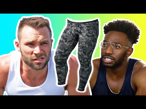 Guys Work Out In Tights For The First Time