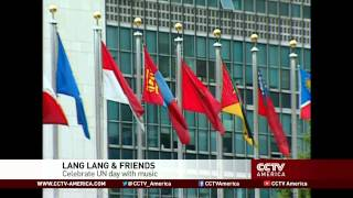 See the news report video by Chinese pianist Lang Lang and Sting celebrate UN Day with music