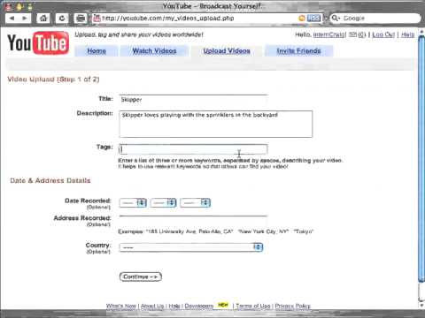 How to Upload a Video - YouTube.flv