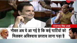 Will hug Kharge after voting on no-confidence motion is over: Rajnath Singh - ZEENEWS